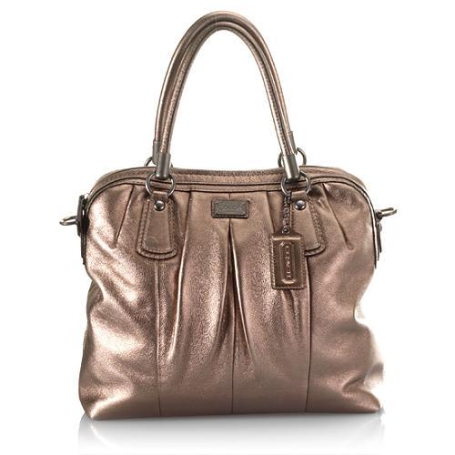 Coach Kristin Pleated Satchel Handbag