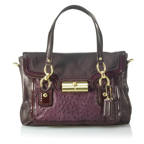 Coach Kristin Spectator Leather Flap Satchel Handbag