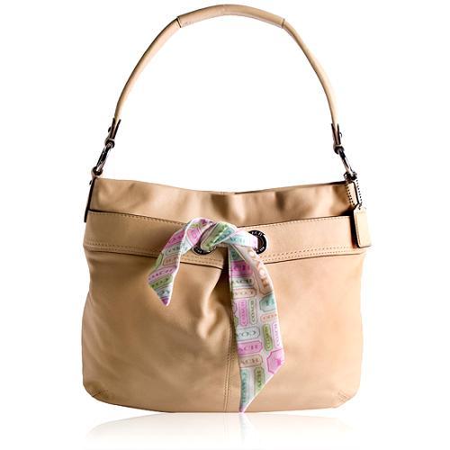 Coach Kyra Parchment Soft Hobo Handbag