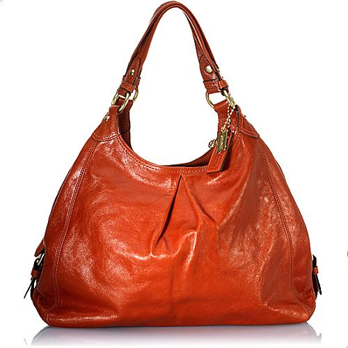 Coach Large Maggie Leather Hobo Handbag