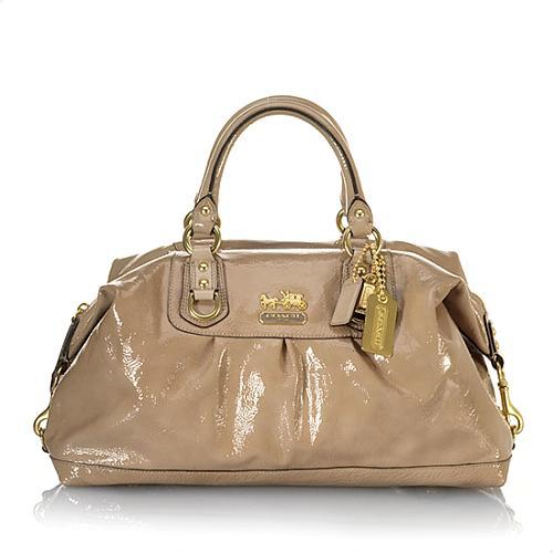 Coach Large Patent Leather Sabrina Handbag