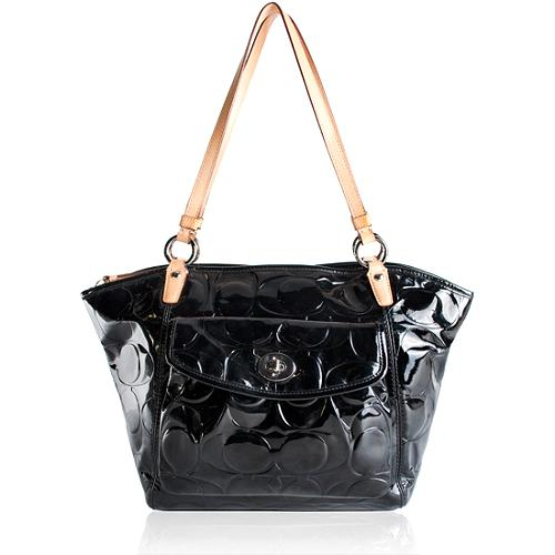 Coach Leah Embossed Patent Leather Tote