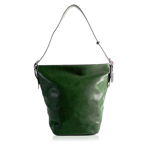 Coach Leather Bucket Shoulder Tote