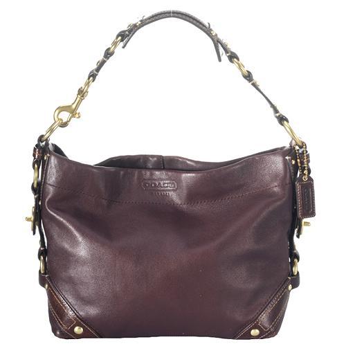 Coach Leather Carly Hobo Handbag