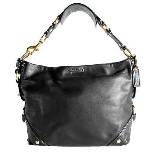 Coach Leather Carly Large Hobo Handbag