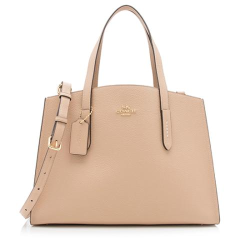 Coach Leather Charlie Carryall Tote