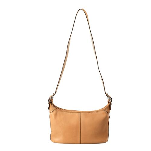 Coach Leather East/West Duffel Shoulder Handbag