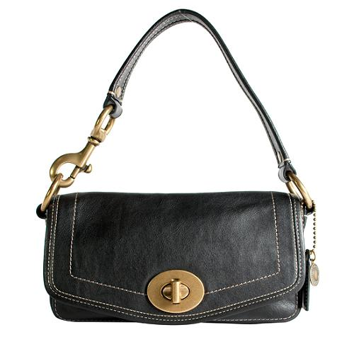 Coach Leather Flap Shoulder Handbag