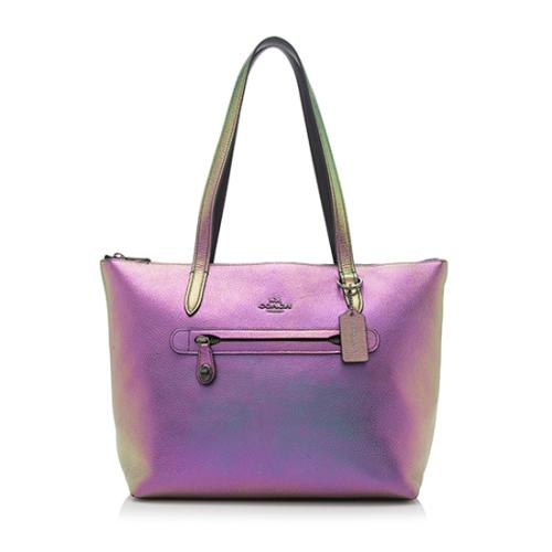 Coach Leather Hologram Taylor Tote
