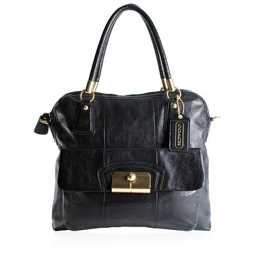 Coach Leather Kristin Zip Top Tote
