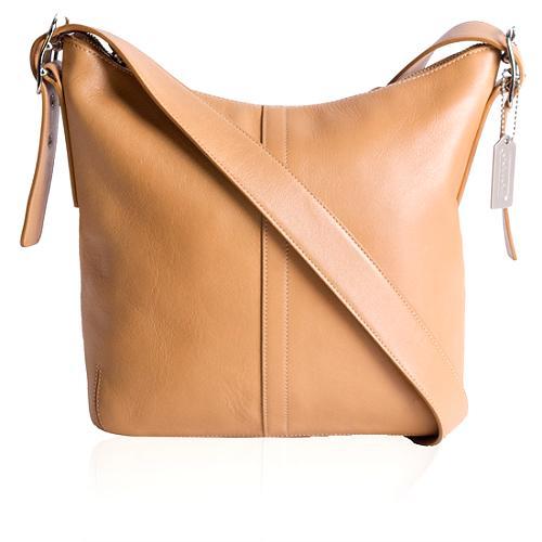 Coach Leather Slim Duffel Shoulder Handbag