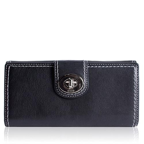 Coach Leather Turnlock Wallet