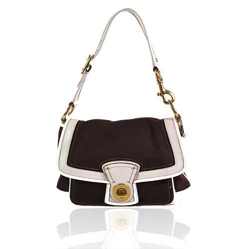 Coach Legacy Ali Canvas Flap Shoulder Handbag