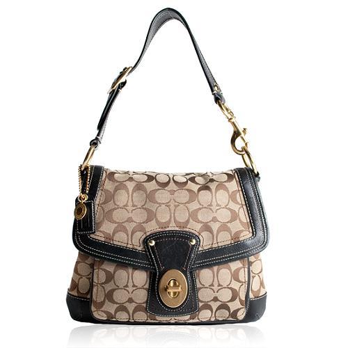 Coach Legacy Ali Signature Flap Shoulder Handbag