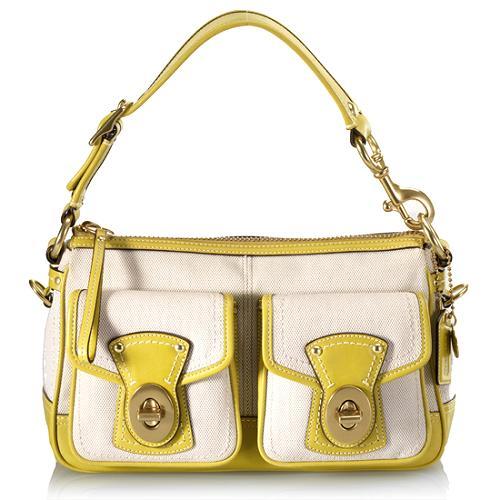 Coach Legacy Canvas Shoulder Handbag