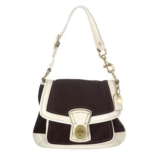 Coach Legacy Canvas Slim Flap Shoulder Handbag