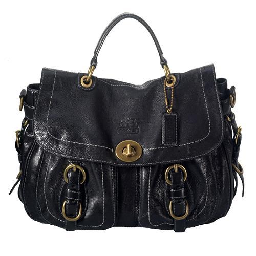 Coach Legacy Leather Top Handle Satchel Handbag
