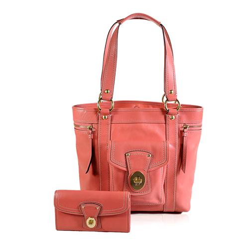 Coach Legacy Leather Tote and Matching Checkbook Wallet