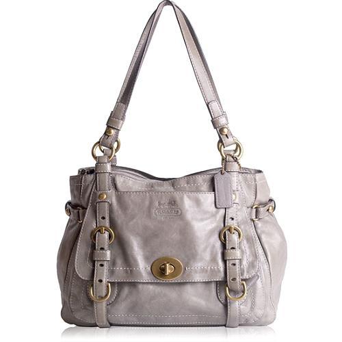 Coach Legacy Leather Zip Satchel Handbag