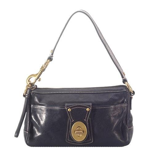 Coach Legacy Leather Zip Shoulder Handbag