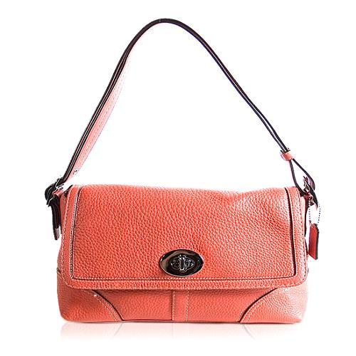 Coach Legacy Pebbled Leather Shoulder Handbag