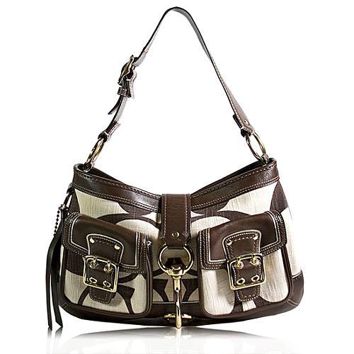 Coach Legacy Signature Cotton Shoulder Handbag