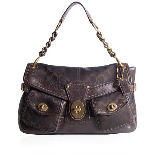 Coach Legacy Signature Leigh Shoulder Handbag