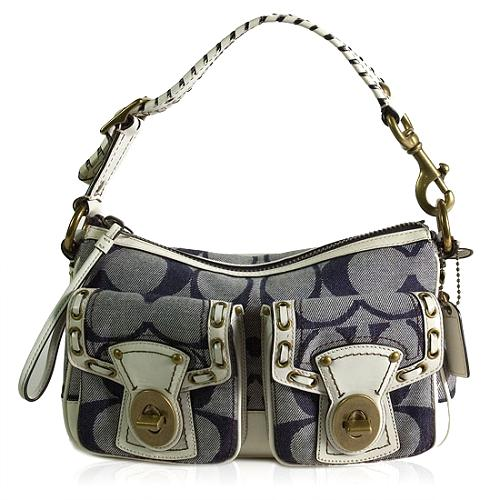 Coach Legacy Signature Resort Laced Shoulder Handbag
