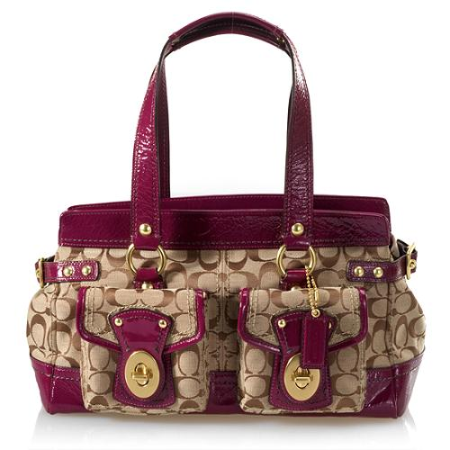 Coach Legacy Signature Satchel Handbag