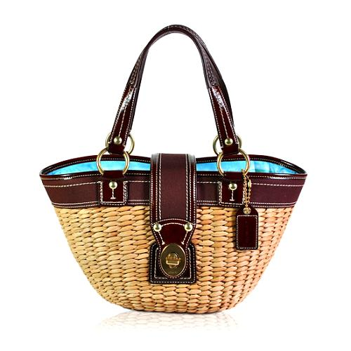 Coach Legacy Straw Leather Tote