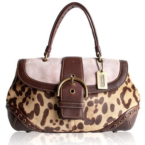 Coach Limited Edition Ocelot Satchel Handbag