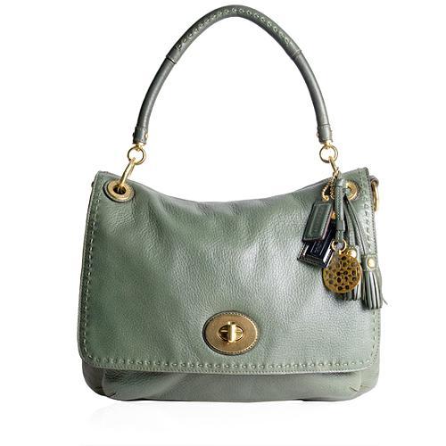 Coach Limted Edition Hamptons Leather Flap Shoulder Handbag