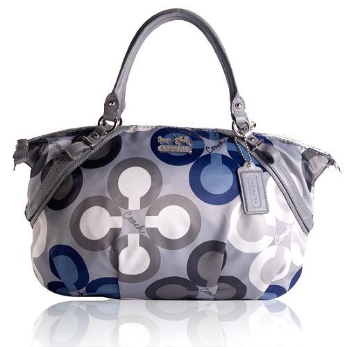 Coach Madison Clover Print Large Sophia Satchel Handbag