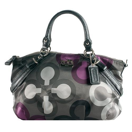 Coach Madison Clover Print Sophia Satchel Handbag