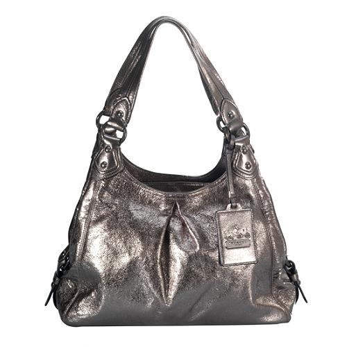 73d530f7a46f ... coupon code for coach madison crackled metallic leather maggie shoulder  handbag 4c628 b2acf