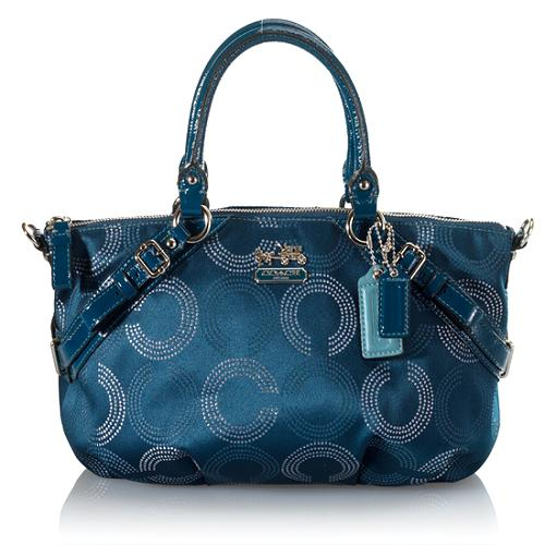 Coach Madison Dot Op Art Sophia Satchel Handbag