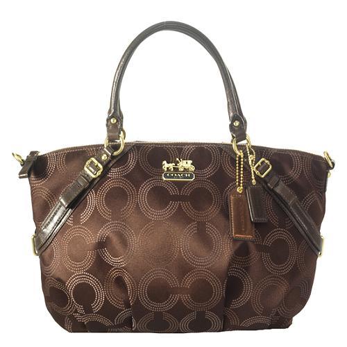 Coach Madison Dotted Op Art Sophia Satchel Handbag