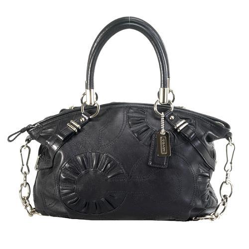 Coach Madison Embellished Leather Sophia Satchel Handbag
