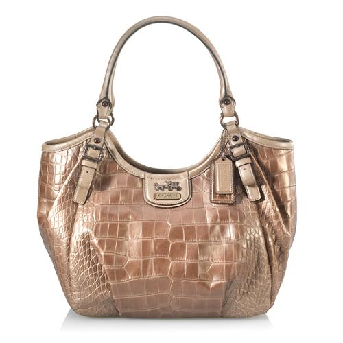 Coach Madison Embossed Croc Abigail Shoulder Handbag
