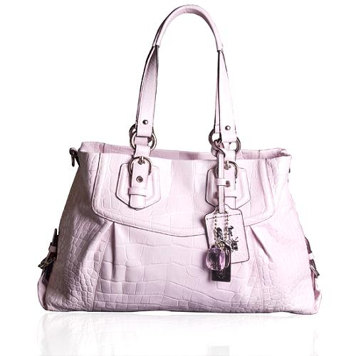 Coach Madison Embossed Exotic Carryall Tote