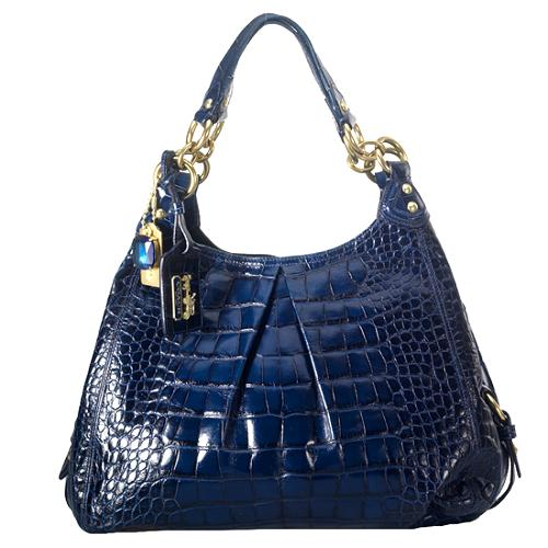 Coach Madison Embossed Exotic Maggie Shoulder Handbag
