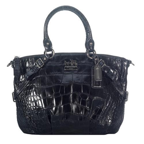 Coach Madison Embossed Exotic Sophia Satchel Handbag