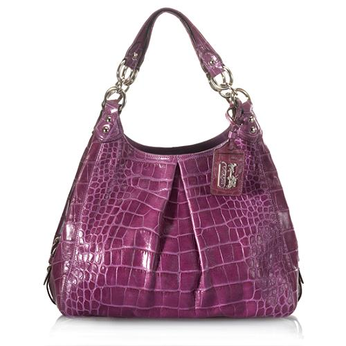 Coach Madison Embossed Maggie Exotic Hobo Handbag