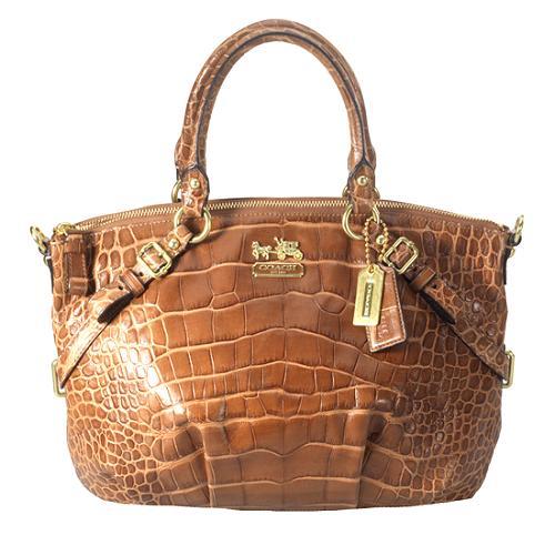 Coach Madison Exotic Embossed Sophia Satchel Handbag