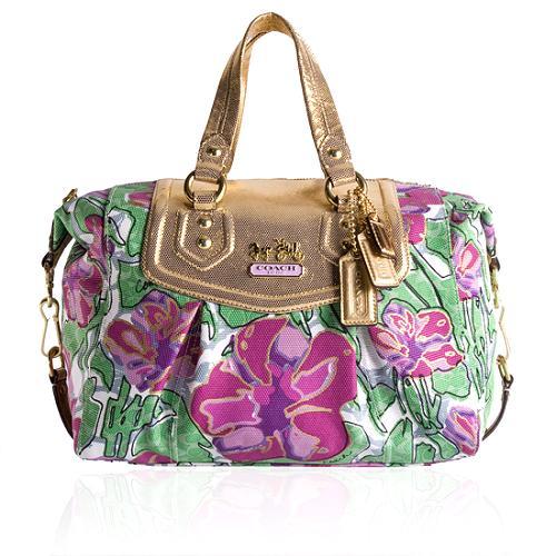 Coach Madison Floral Audrey Satchel Handbag