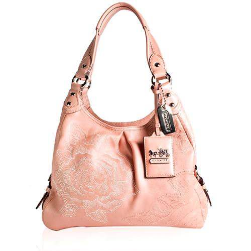 19a8a71544 Coach Madison Floral Embroidered  Maggie  Shoulder Handbag