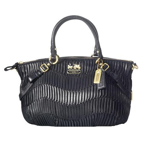 Coach Madison Gathered Leather Sophia Satchel Handbag