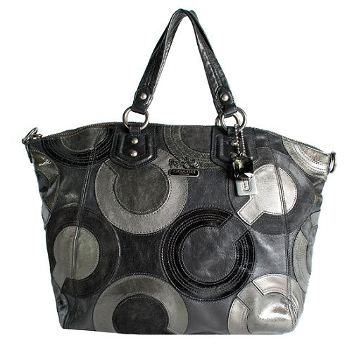 Coach Madison Inlaid Op Art Claire Tote