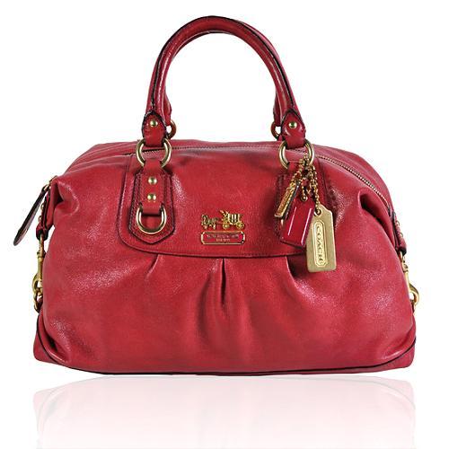Coach Madison Leather Large Sabrina Satchel Handbag