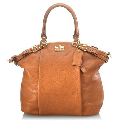 Coach Madison Leather Lindsey Satchel Handbag